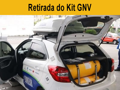 Retirada do Kit GNV